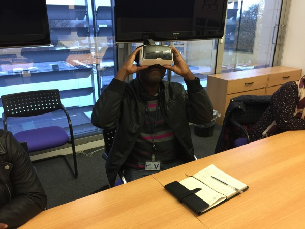 Dr Valeta using VR Headset